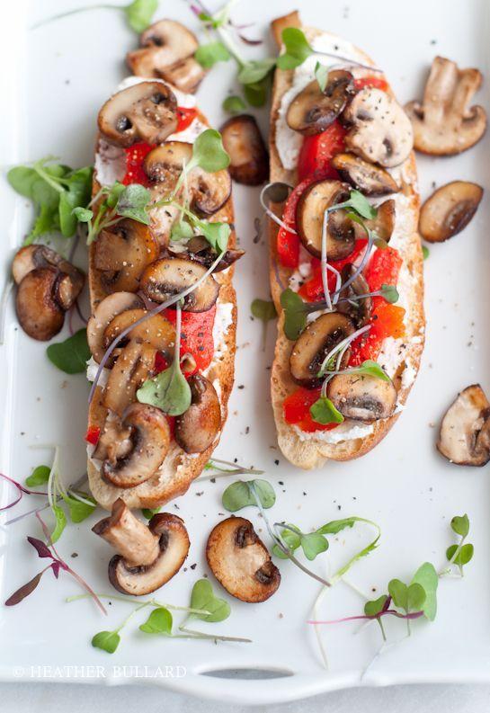 vegetarian toasts